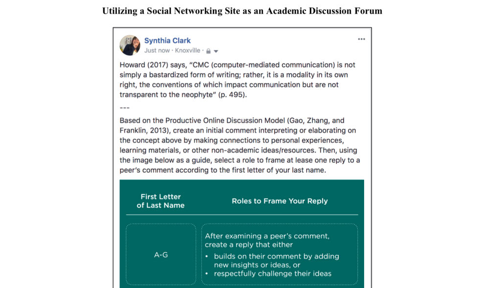 screenshot of discussion forum